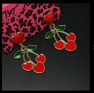 Betsey Johnson Cherry Earrings